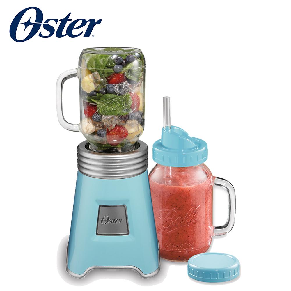 【加價購】美國Oster-Ball Mason Jar隨鮮瓶果汁機(藍)
