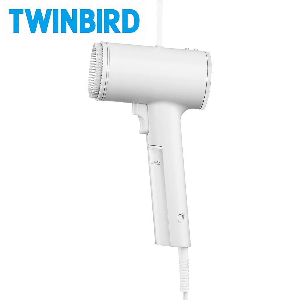 【限量加購】日本Twinbird 高溫抗菌除臭 美型蒸氣掛燙機(白)TB-G006TWW