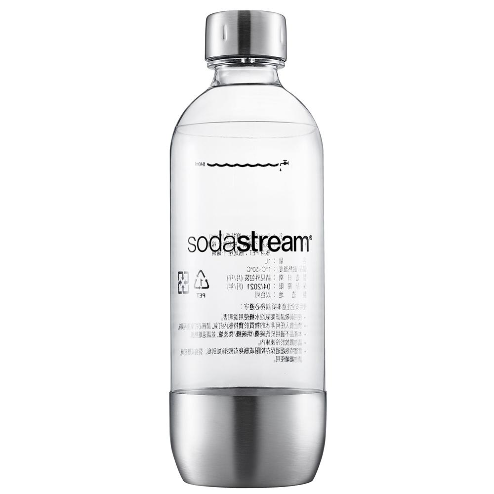 【下殺8折】Sodastream 專用水瓶1L 1入(金屬)