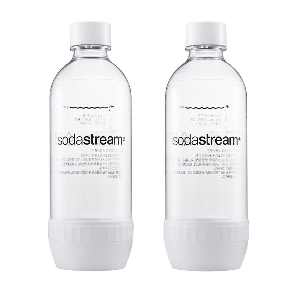 【下殺8折】Sodastream 專用水瓶1L 2入(白)