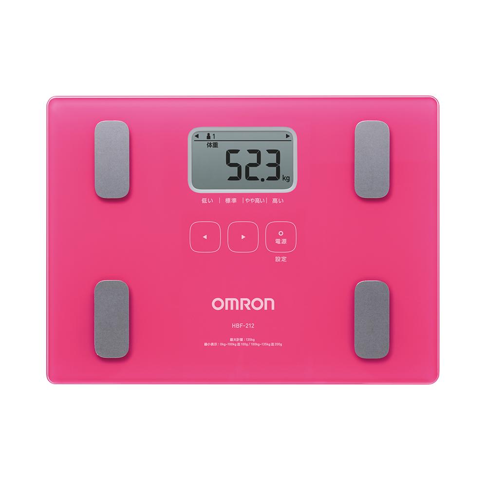 OMRON 歐姆龍 體重體脂計 HBF-212(粉色)
