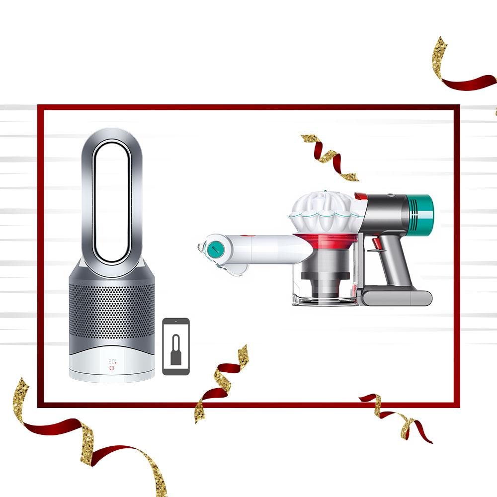 【49折獨家快閃抗敏組合】Dyson Pure Hot Cool Link HP03 三合一 涼暖空氣清淨機福利品+ V7 Mattress 手持吸塵器福利品