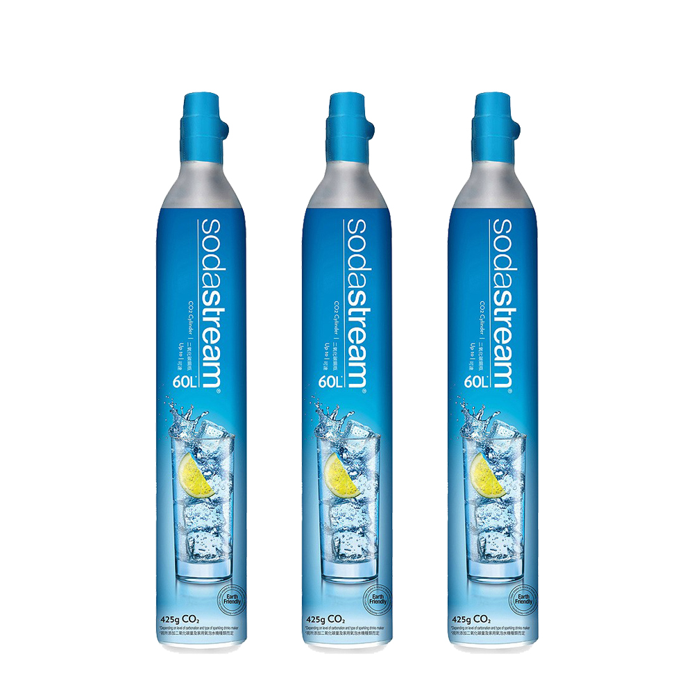 〔鋼瓶交換/回收舊換新〕(三入組) Sodastream二氧化碳交換鋼瓶 425g