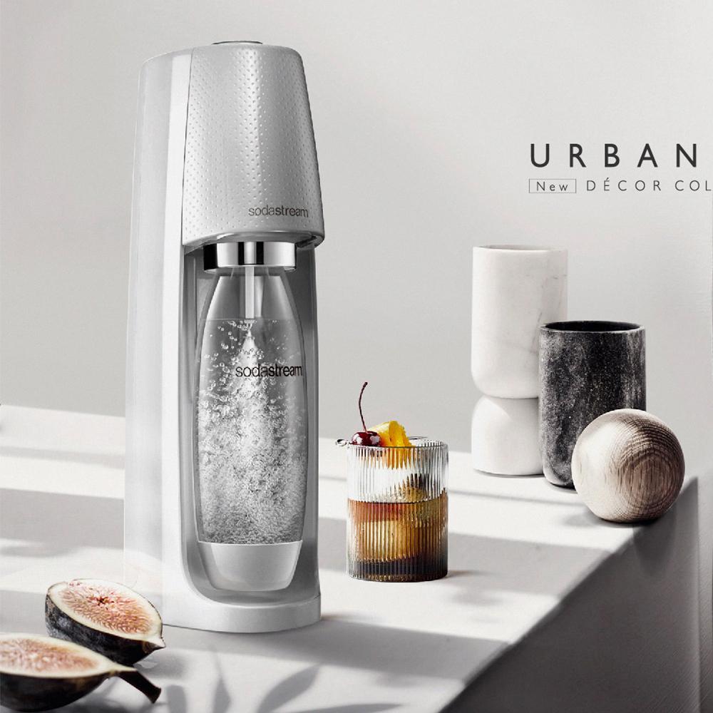 Sodastream Spirit 自動扣瓶氣泡水機(銀河灰) 送500ml專用水瓶x2