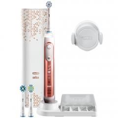【送1年份刷頭($639)】德國百靈 Oral-B 3D智慧追蹤電動牙刷 Genius9000(玫瑰金)